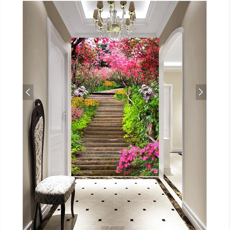 Painting 3d Floral Park Scenic Trails Channel Restaurant Hotel Murals Home Decor Modern Art Wall Painting