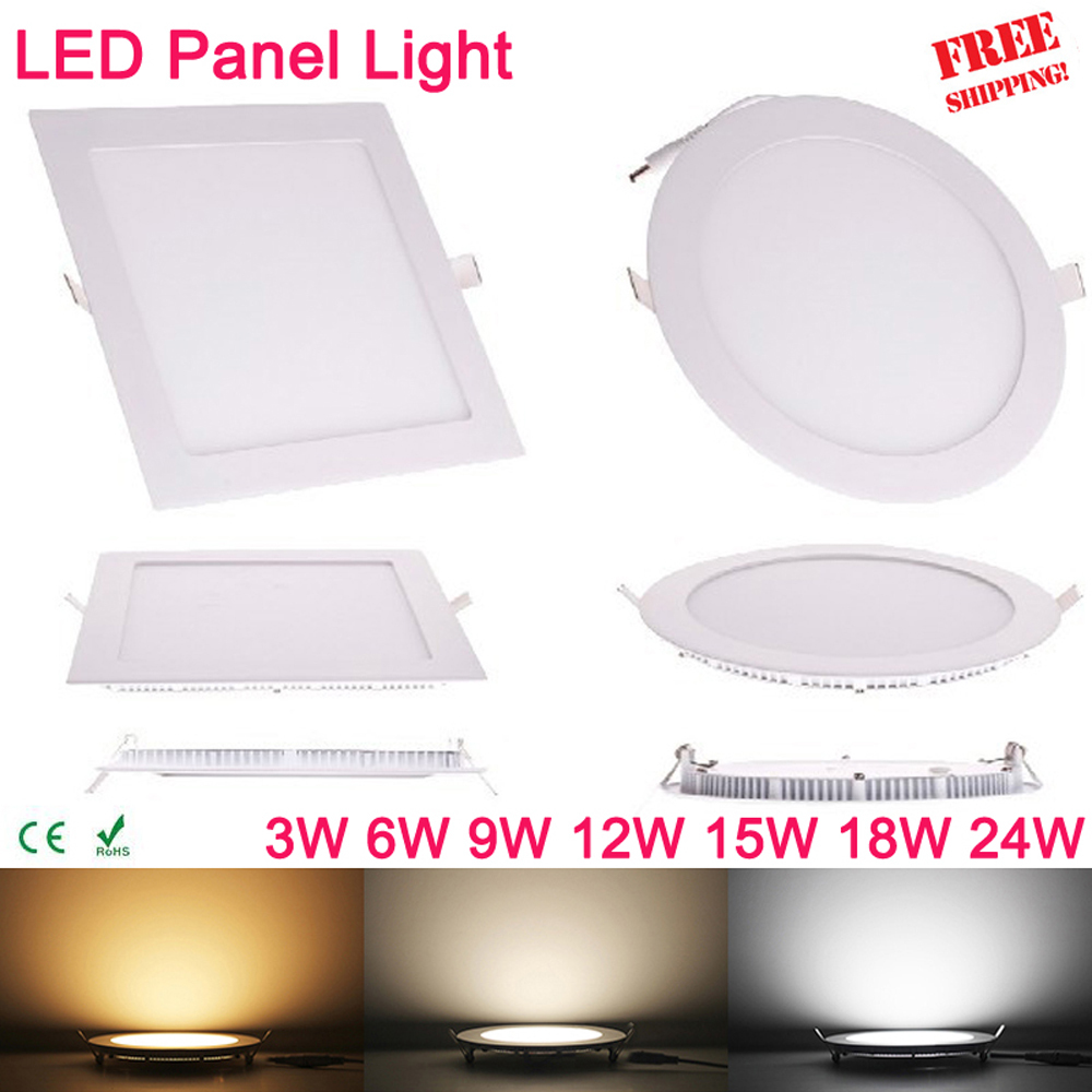 High quality with cheap price led panel light 36w 600x600 ac85 265v - Ultra Thin 3w 6w 9w 12w 15w 18w 24w Square Led Panel Downlight Round Led Ceiling