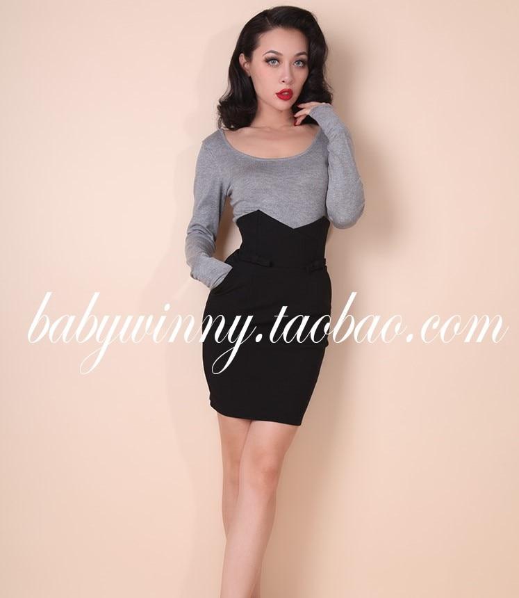 Amérique Mode Noir Buste Match Vert Beige Vintage Europe Tout Style En Angleterre Et Beige Taille Arc Haute noir Femme Jupe ApqYEFq