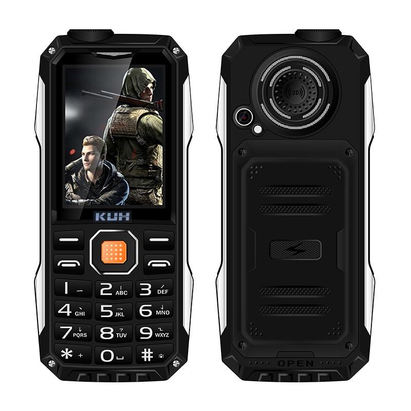 KUH T998 shockproof whatsapp mp3 mp4 power bank bluetooth 3 0 flashlight FM black list internet