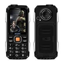 KUH T998 antichoc whatsapp mp3 mp4 puissance banque bluetooth 3.0 lampe de poche FM noir liste internet robuste mobile téléphone P004