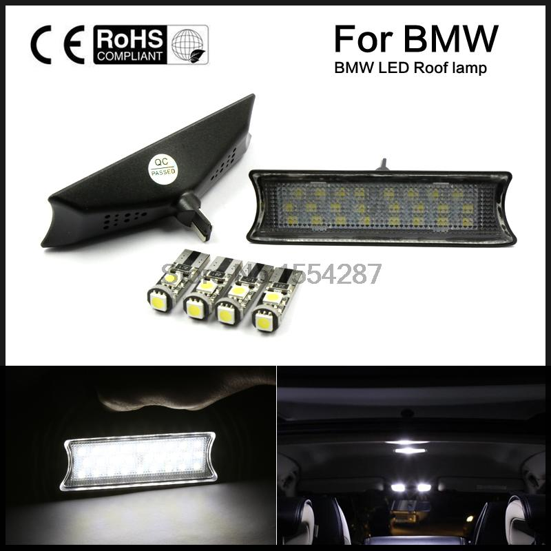 2pcs Interior LED Dome Overhead Reading Light Roof Lamp Kit For BMW E90 E91 E93 reading literacy for adolescents