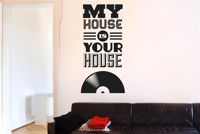 My house is your house vinyl music wall stickers decals art quotes free shipping