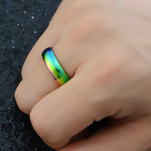 Jewelry One-Ring Stainless-Steel Rainbow-Color Men Fashion Power-The-Lord of Lovers New