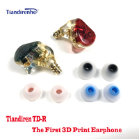 Tiandirenhe TD R 3D Print MMCX in Ear HIFI Earphone Hybrid technology Custom 3D printing inverted resin headphone HIFI Headset