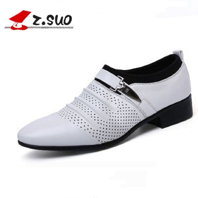 Z.suo 2018 luxury brand men business shoes high quality Comfortable  breathable men dress shoes classical men loafers leather b14c58fe6ad5
