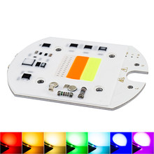 LED RGB COB Chip Colorful 30W 220V Input Smart IC Chip For DIY Floodlight Spotlight Light Beads to Square Highway Outdoor Wall(China)