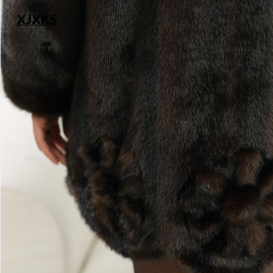 Chaud Taille Faux Femmes Moyen Manteau Épais Fourrure Vison Imitation 2017 Manteaux 1 De Nouveau Dames Grande D'âge Hiver wXfE4nz