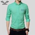 Camisa de los hombres de 2017 nueva impresión de la llegada de negocios casual brand clothing vestido camisa masculina de manga larga hombre camisa masculina sociales n1136