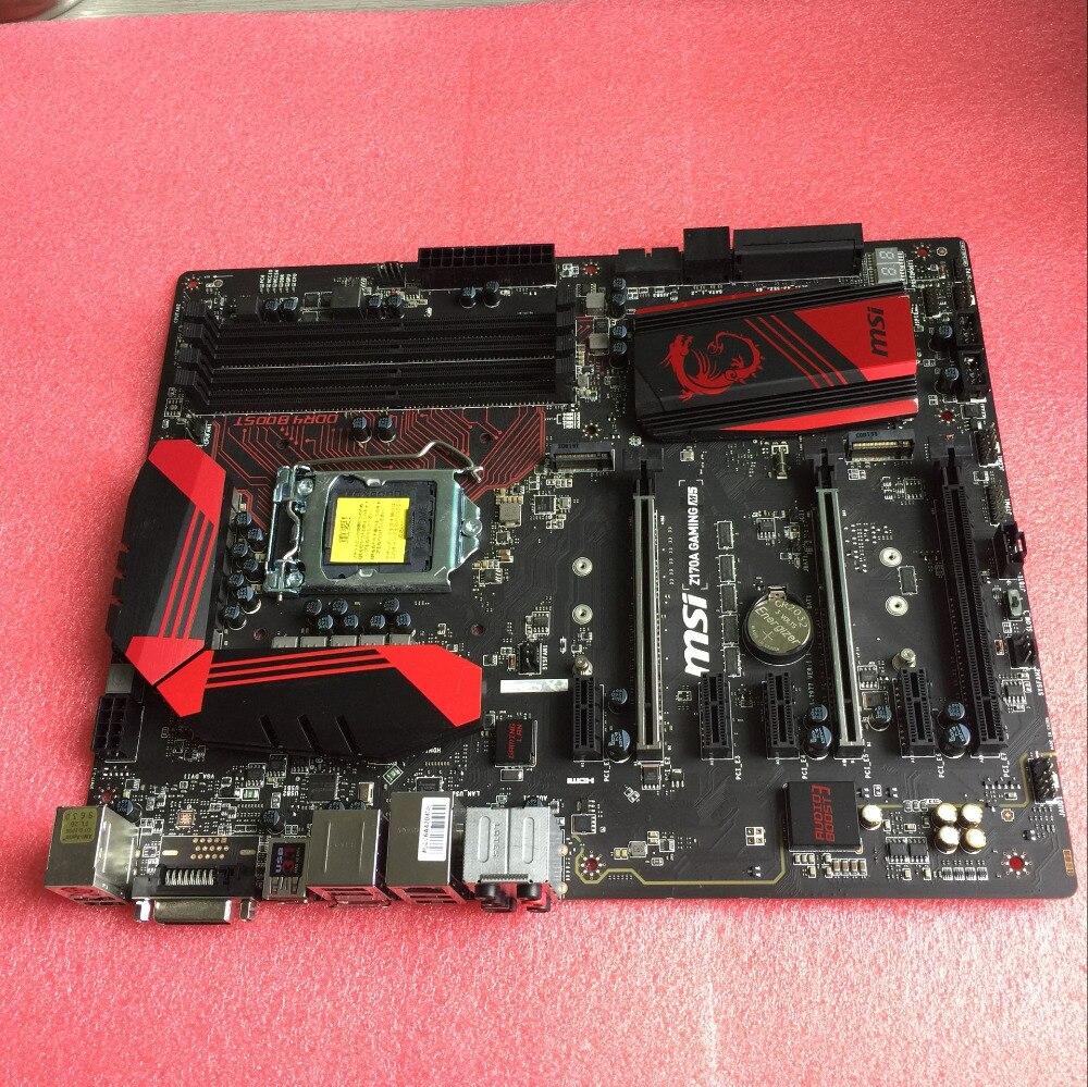 Оригинальный MSI материнская плата для z170a игровой M5 LGA 1151 DDR4 для i3 i5 i7 14nm Процессор USB3.0 USB3.1 64 ГБ z170 настольная материнская плата