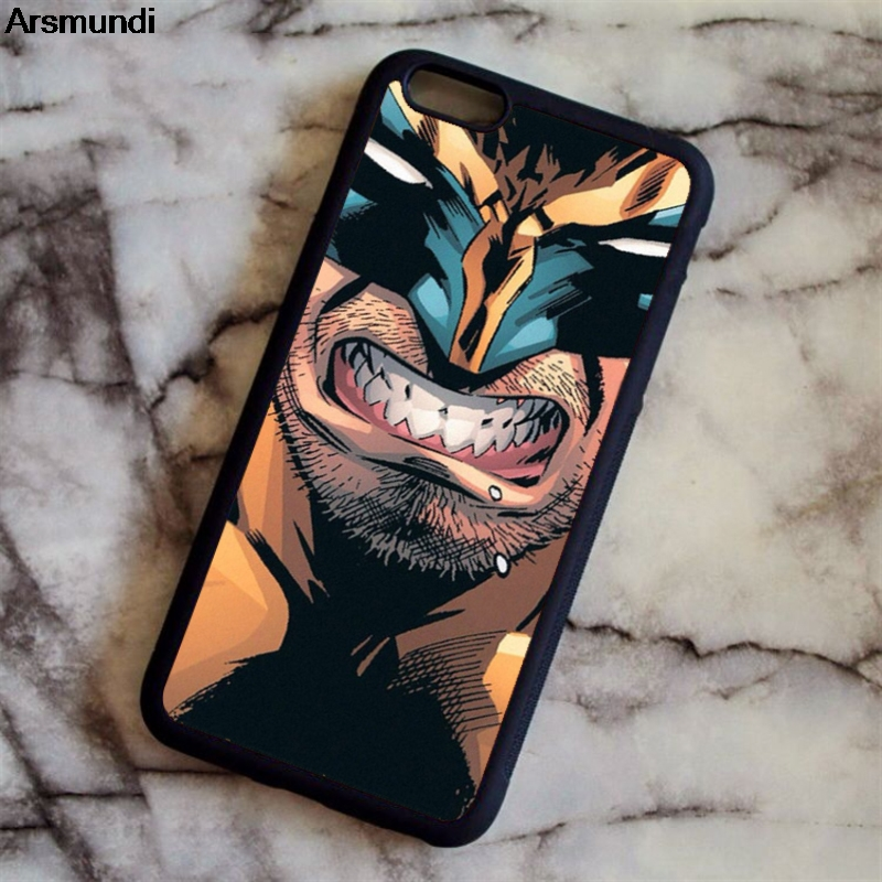 Arsmundi Wolverine Marvel Comic X Man Phone Cases for iPhone 4S 5C 5S 6 6S 7 8 Plus X for X Case Soft TPU Rubber Silicone image
