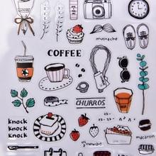 Повседневной жизни бумаги DIY Декоративные наклейки для альбом для скрапбукинга Kawaii канцелярские дневник стикер студент школьные принадлежности