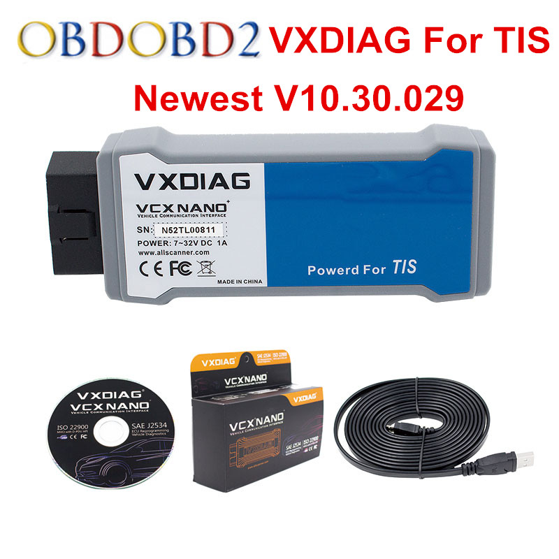 все цены на Newest VXDIAG VCX NANO For TOYOTA V10.30.029 TIS Techstream Powered For TIS Compatible with SAE J2534 Fireware Can Be Updated