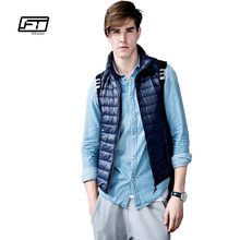 a230f06f07f Fitaylor New Spring Autumn Male Ultra Thin Vest Casual Duck Down Coat Vest  Plus Size 3xl