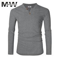 Mrwonder Men S Long Sleeve T Shirts Casual Slim Fit Soft Cotton Henley Shirts Plain Tees