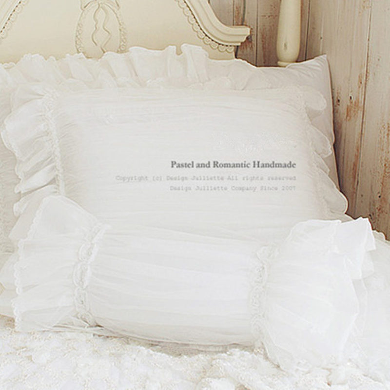 1 piece Romantic dream pillowcase white lace Fluffy cushions luxury pillow case bedding decorative bedding accessory textile