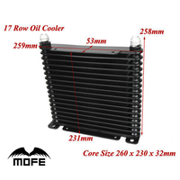 SPECIAL OFFER MOFE Racing Aluminum 17 Row AN10 Engine Transmission Oil Cooler Black