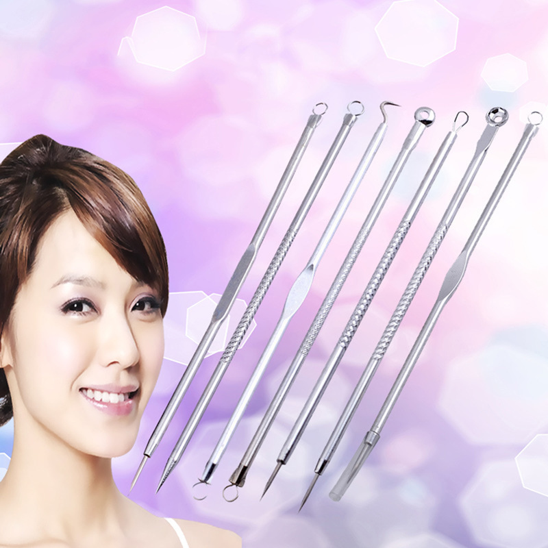 Remover Tool Set Acne Remove Needle Blackhead Remover Pimple Blemish Acne Extractor 7 Pcs