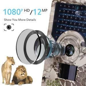 Image 2 - JOYZON HD 1080P cámara de caza 12MP 49 Uds 940nm LEDs infrarrojos visión nocturna trampas para cacería fauna Trail Cámara Animal foto Trap