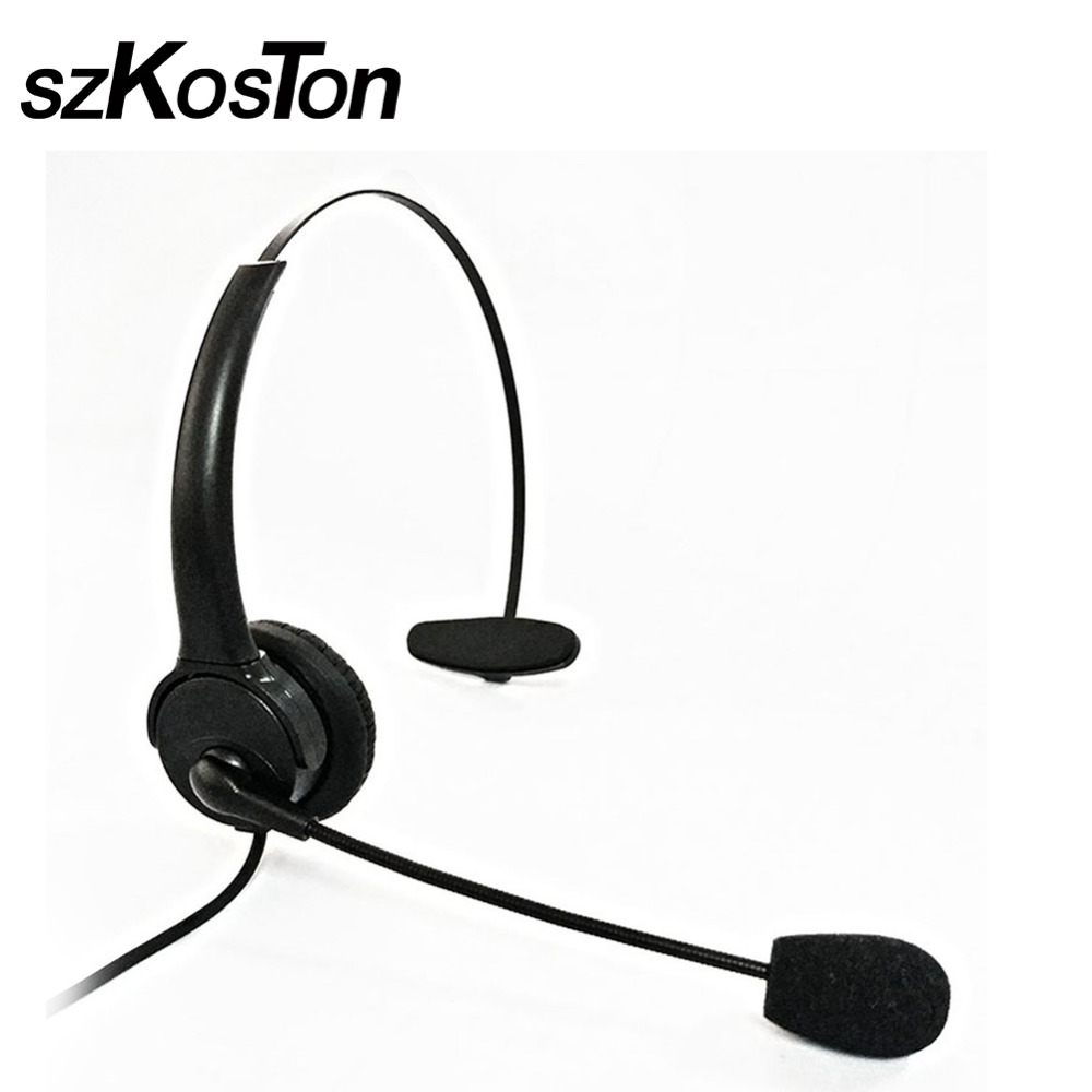 Adjustable Business USB Headset Handsfree Headphones Rotatable Earphone Call Center Noise Cancelling With Mic For PC Laptop