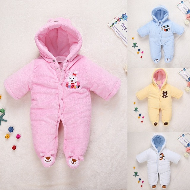 e67a0a0df Newborn Baby fleece soft toddler winter Rompers Clothes Infant ...