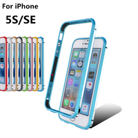 Deluxe Ultra Thin Case Shockproof Phone Cover aluminum Bumper for Apple iPhone 5 5S SE + 2 Film (1 Front +1 Rear)