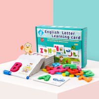 English Abc alphabet learning letter cards children kids language color Cognition animal Series for Baby educational toys game