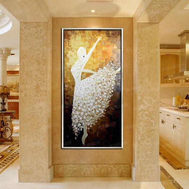 mur photos pour salon peinture lhuile sur toile abstraite art ballet peinture moderne - Peinture Moderne Pour Salon