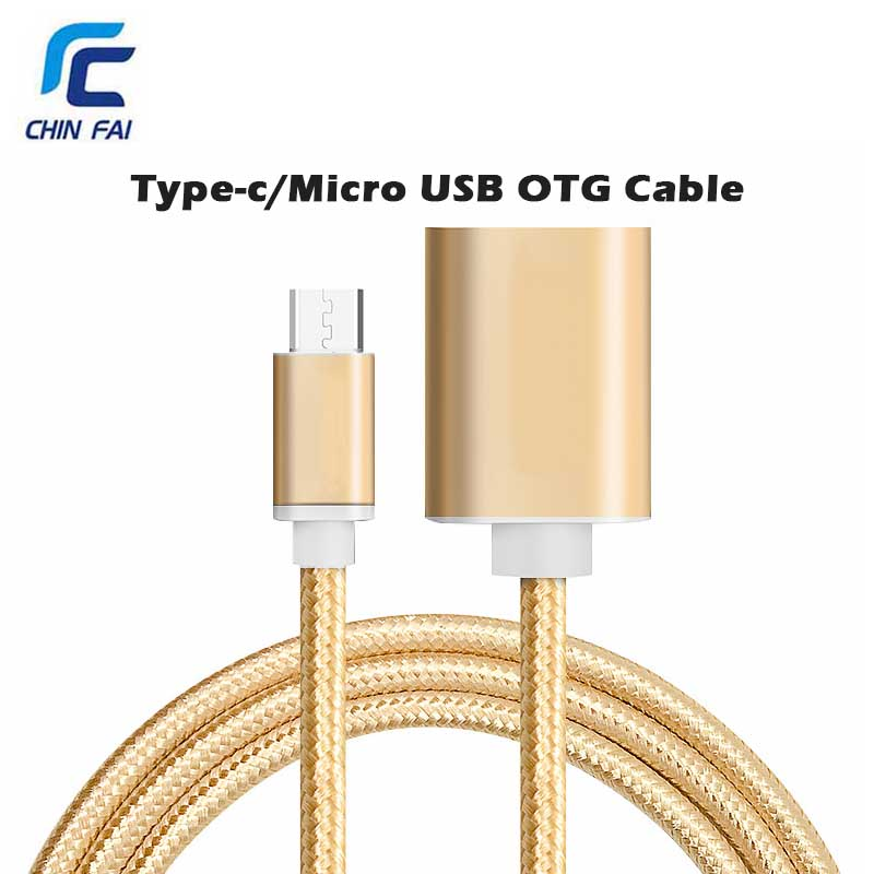 Chinfai Type C OTG Cable Adapter Micro USB OTG Adapter for Huawei Macbook Xiaomi Google Type-C Data Transfer Cable USB OTG