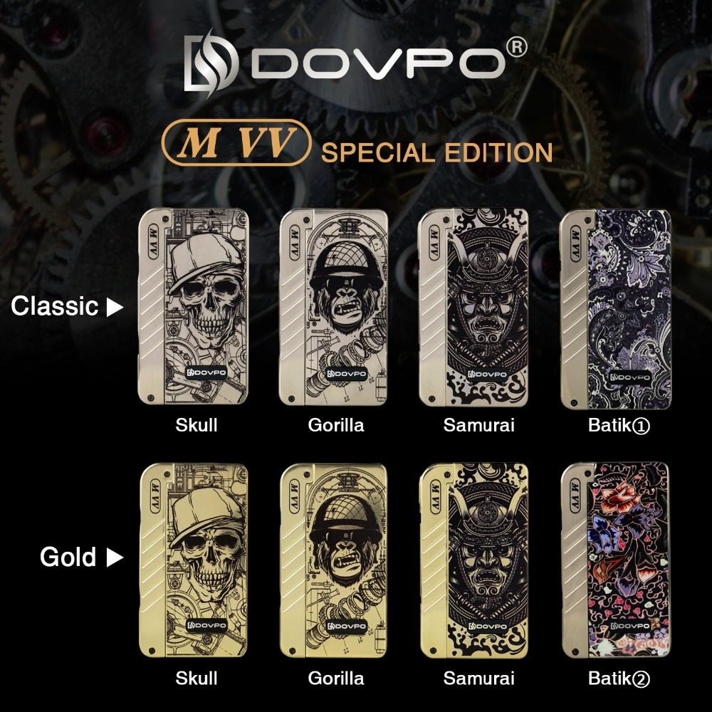 Original DOVPO MVV Mod Skull Doodle Edition Huge Vapor 280w MVV Box Mod Vape Mod Electronic Cigerette Mod vs Charon 218w цена