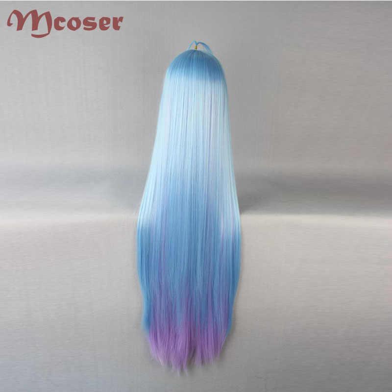 Mcoser frete grátis sintético 105cm multi-color longo cabelo reto peruca cosplay 100% fibra de alta temperatura cabelo WIG-558B
