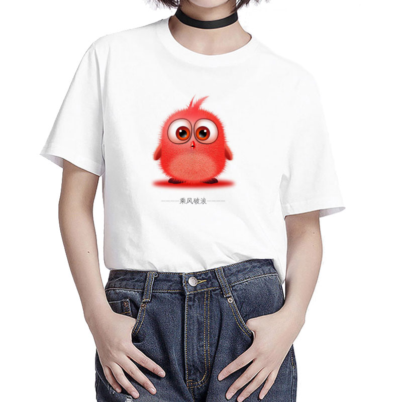 BGtomato Little <font><b>RED</b></font> chicken o-neck <font><b>t</b></font>-<font><b>shirt</b></font> casual <font><b>red</b></font> top tees <font><b>women</b></font> plus szie modal lovely tshirt harajuku print cute <font><b>t</b></font> <font><b>shirt</b></font> image
