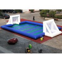 PVC Commercial Customized Size Inflatable Football Field Soapy Stadium Soccer field