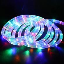 AC220V RGB Neon Light Round Tube LED Strip Flexible Waterpro