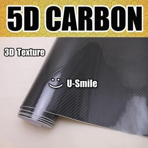 Image 2 - Alta qualidade super brilhante preto 5d fibra de carbono folha envoltório de vinil bolha ar livre para embrulho carro
