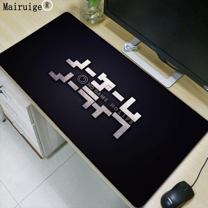 Mairuige NO Game No Life Logo Large mouse pad Anti-slip Natural Rubber PC Computer Gaming mousepad Desk Mat for LOL cs go DOTA2