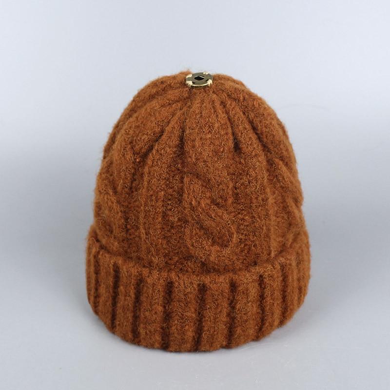 2018 Winter Knitted Beanies Skullies Ski Hats Warm Cap Boys Girls Adult Woman Hat White,