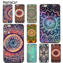MaiYaCa Mandala Zon Bloem Datura Retro Flora Nieuwe Collectie Telefoon COVER Case voor iPhone 8 7 6 6 S Plus XS MAX XR 5 S 5C case Coque(China)