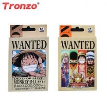 Tronzo 54 unids/set, figura de una pieza, Colección, juguetes, mono D Luffy Roronoa Zoro, cartas de póker para juego para niños