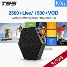 IUDTV Box Android 7.1 T95Z Plus Set Top Box With IPTV 1 Year Europe Subscription IPTV Italia Germany UK Portugal Turkey IP TV цены