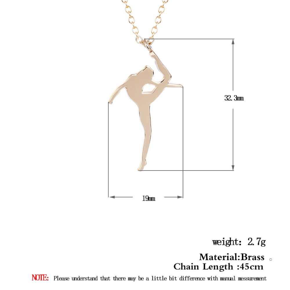 כסף מצופה בלט ריקוד רקדנית תליון שרשרת לנשים עצם הבריח שרשרת בעבודת יד חתונה כלה מתנה Tiffan תכשיטים