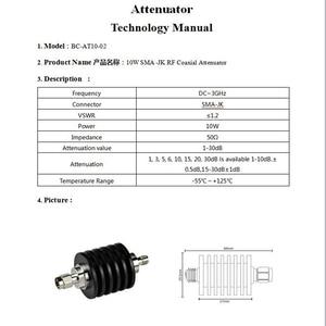 Image 4 - ALLiSHOP atenuador de 10W, 1db a 40dB SMA macho a SMA hembra DC 3.0GHZ 50ohm potencia coaxial RF