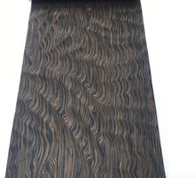 L:2.5Meters/pcs Width:55cm  Thickness:0.2mm  Technology Ebony Root Bark  Wood Veneer (back side withnonwoven fabric)