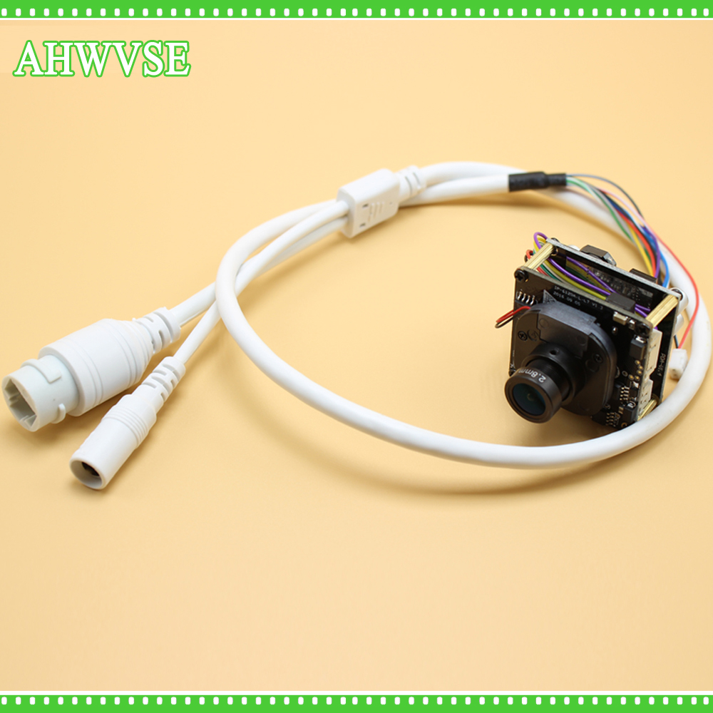 AHWVSE 2.8mm High Resolution 1920*1080P 720P 960P HD POE IP camera module board with LAN cable