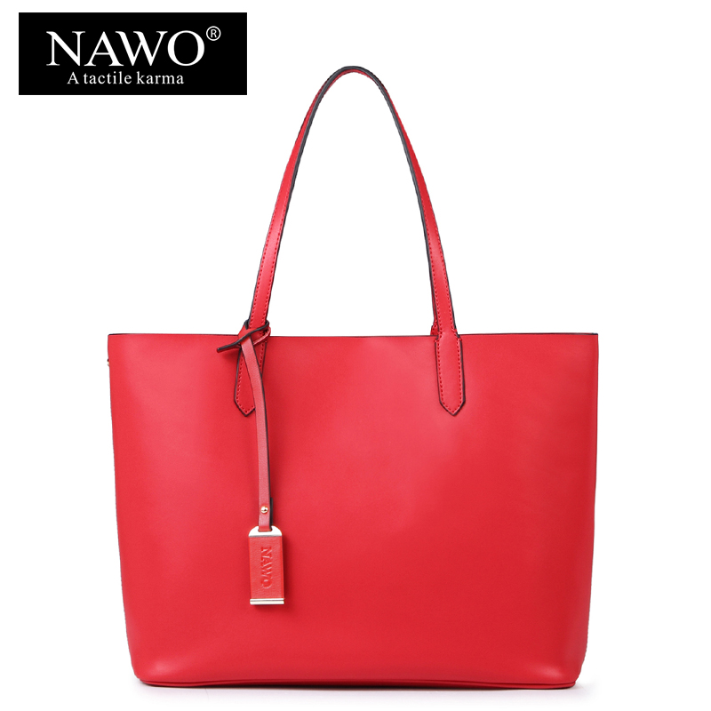 8415de63e032 NAWO Red Casual Women Tote Bags Large Capacity Leather Handbags New Fashion  Famous Designer Brand Ladies shoulder Shopping Bags-in Top-Handle Bags from  ...