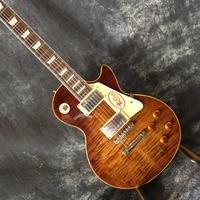 Custom Shop LP standard electric guitar 1959 R9 version Tobacco sunburst color tiger striped maple cover mahogany body in stock