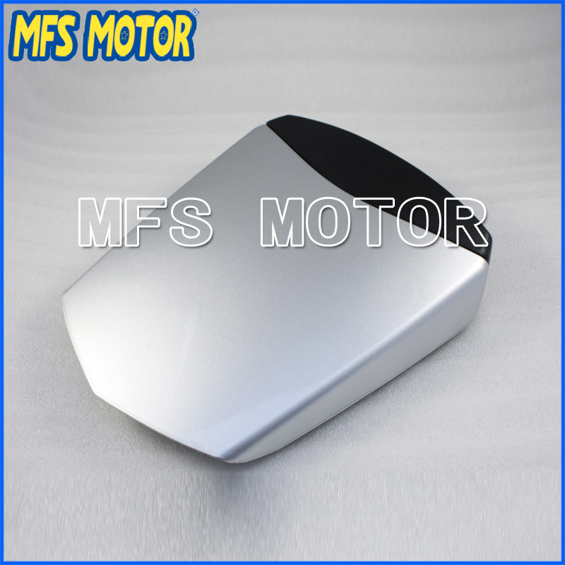 Motorcycle Rear Pillion All Silver Injection ABS Seat Cowl Cover For Yamaha YZF-R6 2003-2005 04