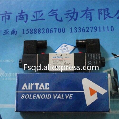 где купить 4V220-08 DC24V solenoid valve pneumatic tools Quality pneumatic components дешево