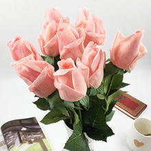 20 Pcs/lot Artificial Flowers Latex Rose for a Wedding Home Party Decoration Real Touch Christmas Flower