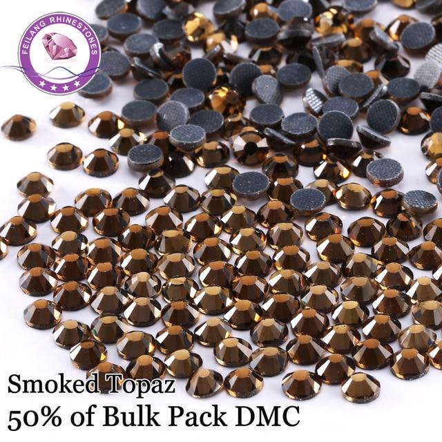 SS6-SS30 Smoked Topaz DMC Hotfix Rhinestones For Evening Dresses  Decoration DIY  Iron On Stones